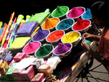 Bacias da cor Foto de Stock