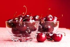Bacias de cerejas Imagem de Stock