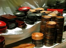 Bacias de madeira Fotos de Stock Royalty Free