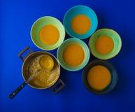 Bacias de sopa da abóbora imagem de stock royalty free