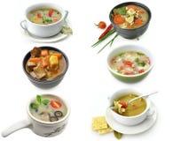 Bacias de sopa saudável Imagem de Stock Royalty Free