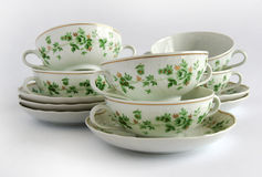 Bacias de sopa vazias da porcelana fotografia de stock royalty free