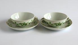 Bacias de sopa vazias da porcelana imagem de stock royalty free