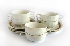 Bacias de sopa vazias da porcelana fotos de stock royalty free