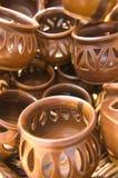 Bacias decorativas cerâmicas para foto de stock