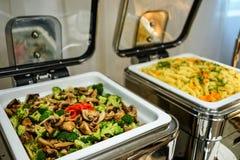 Bacias do alimento do vegetariano Imagens de Stock Royalty Free