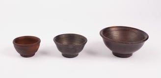 Bacias do produto de cerâmica Fotografia de Stock Royalty Free