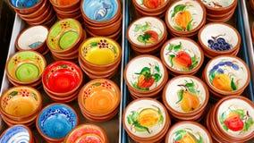 Bacias tradicionais portuguesas da argila Fotos de Stock