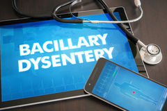 Bacillary dystentery (infectious disease) diagnosis medical  Royalty Free Stock Photography