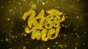 Bacimi che le labbra desidera la cartolina d'auguri, l'invito, fuoco d'artificio della celebrazione royalty illustrazione gratis