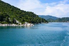 Bacina湖,普洛切,达尔马提亚 免版税库存照片