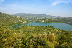 The Bacina lakes in Croatia Stock Photo