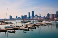 Bacini degli yacht, Qingdao   immagini stock libere da diritti