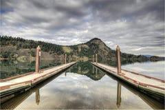 Bacini della barca del lago fishing fotografia stock libera da diritti