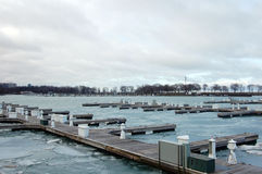 Bacini di Chicago nell'inverno Fotografia Stock