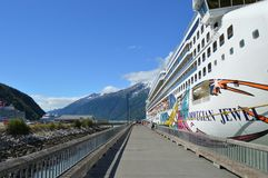 Bacini di crociera di Skagway Alaska immagine stock libera da diritti