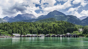 Bacini a Konigsee Immagine Stock