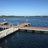 Bacino, acqua e cielo Fotografia Stock