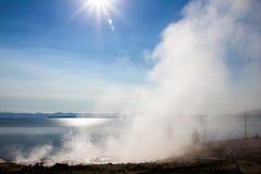 Bacino ad ovest del geyser del pollice Fotografie Stock
