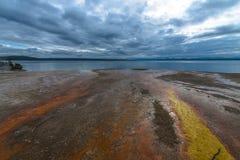 Bacino ad ovest Yellowstone del geyser del pollice Fotografia Stock Libera da Diritti