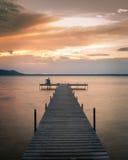 Bacino al tramonto Immagini Stock