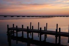 Bacino al tramonto Fotografie Stock