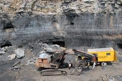 Bacino carbonifero di Jharia Fotografia Stock