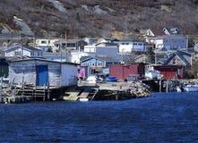 Bacino commerciale al porto piccolo Fotografia Stock