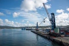 Bacino commerciale a Suva fotografie stock