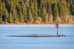 Bacino congelato Fotografia Stock Libera da Diritti