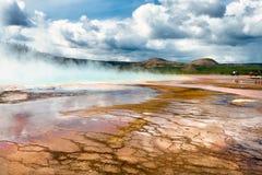 Bacino del geyser, parco nazionale di Yellowstone, Wyoming Fotografia Stock