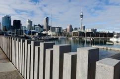 Bacino del porto del viadotto di Auckland Fotografie Stock