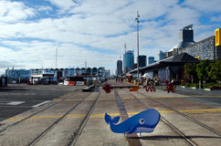 Bacino del porto del viadotto di Auckland Fotografie Stock Libere da Diritti