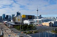 Bacino del porto del viadotto di Auckland Fotografia Stock