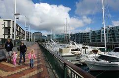 Bacino del porto del viadotto di Auckland Immagini Stock