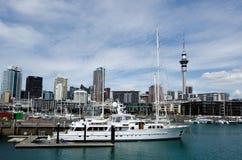 Bacino del porto del viadotto di Auckland Fotografia Stock Libera da Diritti