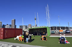 Bacino del porto del viadotto di Auckland - Nuova Zelanda Fotografie Stock