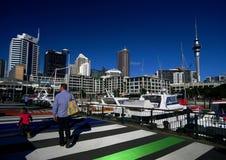 Bacino del viadotto della città di Auckland fotografia stock libera da diritti