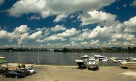 Bacino dell'yacht club Fotografia Stock