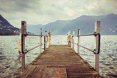 Bacino della barca a Lugano Fotografia Stock Libera da Diritti