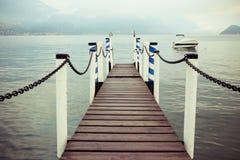 Bacino della barca in Menaggio Fotografia Stock