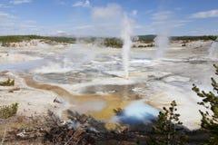 Bacino della porcellana, parco nazionale di Yellowstone Fotografie Stock