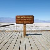 Bacino di Badwater in Death Valley. Fotografia Stock
