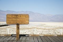 Bacino di Badwater in Death Valley Fotografie Stock Libere da Diritti