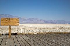 Bacino di Badwater in Death Valley Immagine Stock Libera da Diritti
