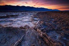 Bacino di Badwater, Death Valley, California, U.S.A. immagini stock libere da diritti