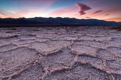 Bacino di Badwater, Death Valley, California, U.S.A. Immagini Stock