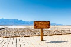 Bacino di Badwater nel parco nazionale California di Death Valley Fotografie Stock Libere da Diritti