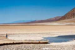 Bacino di Badwater nel parco nazionale California di Death Valley Immagine Stock Libera da Diritti