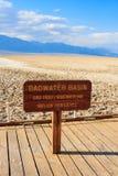 Bacino di Badwater, parco nazionale di Death Valley, California Fotografia Stock Libera da Diritti